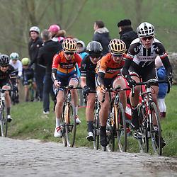 25-02-2017: Wielrennen: Omloop Het Nieuwsblad: Gent  <br />GENT (BEL) wielrennen  <br />Ellen van Dijk, Amy Pieters, Elisa Longo Borghini, Megan Gaunier
