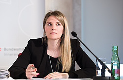 "25.02.2019, Innenministerium, Wien, AUT, Bundesregierung, Pressekonferenz zum Thema ""Aktuelles aus dem Bereich Asyl und Fremdenwesen, im Bild Stv. Pressesprecherin des Innenministers Viktoria Preining // during a media conference at the interior ministry due to asylum topic in Vienna, Austria on 2019/02/25, EXPA Pictures © 2019, PhotoCredit: EXPA/ Michael Gruber"