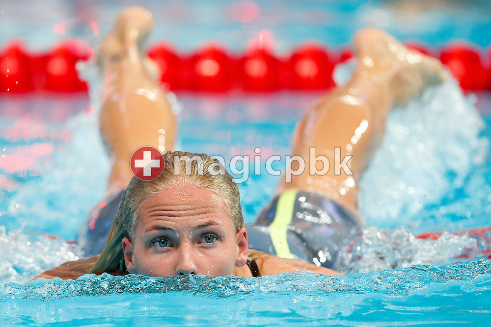 Michelle COLEMAN of Sweden on her way out after competing in the women's 200m Freestyle Heats during the 16th FINA World Swimming Championships held at the Kazan arena in Kazan, Russia, Tuesday, Aug. 4, 2015. (Photo by Patrick B. Kraemer / MAGICPBK)