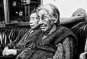 "Miki Sudo (L) and Kiyo Nishimura, both aged 98, enjoy the evening news on the TV at a privately run home for the elderly in Yubari City, on the northernmost island of Hokkaido in Japan. Yubari's fast-diminishing population is largely made up of elderly pensioners and has the highest proportion of elderly citizens in Japan. ""So much has changed,"" commented Nishimura of the city in which she was born."