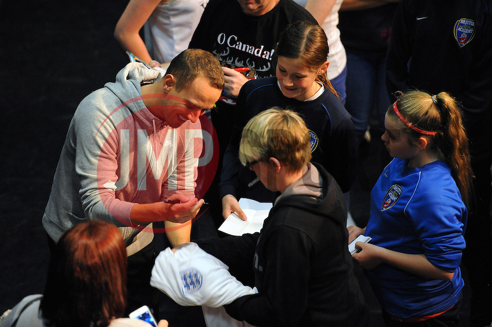 Mark Sampson signs autographs - Mandatory byline: Dougie Allward/JMP - 07966386802 - 05/09/2015 - FOOTBALL - SGS Wise Campus -Bristol,England - Bristol Academy Womens v Birmingham City Ladies - FA Womens Super League