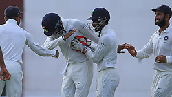 August 4, 2017 - Colombo, Sri Lanka - Indian cricketer Lokesh Rahul(2L) celebrates with his team mates after Sri Lankan cricketer Upul Tharanga (unseen) was dismissed during the 2nd Day's play in the 2nd Test match between Sri Lanka and India at the SSC international cricket stadium at the capital city of Colombo, Sri Lanka on Friday 04 August 2017. (Credit Image: © Tharaka Basnayaka/NurPhoto via ZUMA Press)
