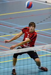 16-10-2013 VOLLEYBAL: PRINS VCV - RIVO RIJSSEN: VEENENDAAL <br /> Rivo Rijssen wint met 3-2 / Peter Ogink<br /> ©2013-FotoHoogendoorn.nl