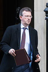 Downing Street, London, January 17th 2017. Attorney General Jeremy Wright leaves 10 Downing Street following the weekly cabinet meeting, ahead of Prime Minister Theresa May's key Brexit speech.