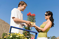 Couple Shopping at Plant Nursery