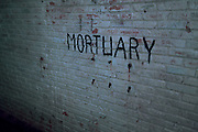 Mortuary German Underground Military hospital, Guernsey, Channel Islands, UK