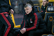Manchester United interim Manager Ole Gunnar Solskjaer during the The FA Cup match between Wolverhampton Wanderers and Manchester United at Molineux, Wolverhampton, England on 16 March 2019.