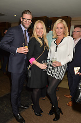 Left to right, EDDIE BOXSHALL, ROSIE NIXON and DENISE VAN OUTEN at a party to celebrate the publication of The Stylist by Rosie Nixon held at Soho House, London on 10th February 2016.