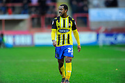 Dagenham & Redbridge's Ashley Hemmings during the Sky Bet League 2 match between Exeter City and Dagenham and Redbridge at St James' Park, Exeter, England on 2 January 2016. Photo by Graham Hunt.