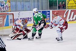 Tomi Mustonen (HDD Tilia Olimpija, #21) scores a goal during ice-hockey match between HDD Tilia Olimpija and HK Acroni Jesenice in 26th Round of EBEL league, on December 10, 2010 at Hala Tivoli, Ljubljana, Slovenia. (Photo By Matic Klansek Velej / Sportida.com)