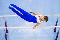 Mitja Petkovsek of Slovenia competes in the Parallel Bars during Final day 2 of Artistic Gymnastics World Cup Ljubljana, on April 27, 2013, in Hala Tivoli, Ljubljana, Slovenia. (Photo By Vid Ponikvar / Sportida.com)