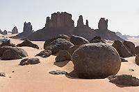 Felslandschaft in der Sahara