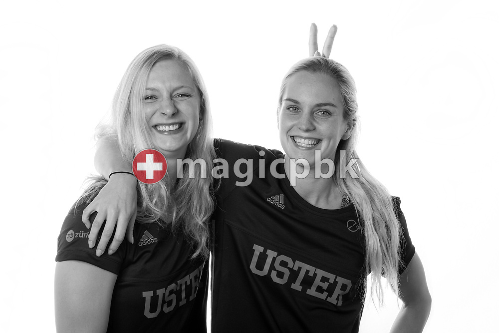 (L-R) SC Uster Wallisellen's swimmers Maria UGOLKOVA and Sasha TOURETSKI of Switzerland pose for a portrait during a photo session at the Hallenbad Buchholz in Uster, Switzerland, Saturday, Feb. 4, 2017. (Photo by Patrick B. Kraemer / MAGICPBK)