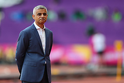 London, 2017-August-04. Mayor of London Sadiq Khan at the opening ceremony of the IAAF World Championships London 2017. Paul Davey.