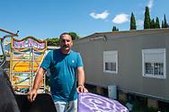 San Giorgio di Acilia, 22/06/2020: Roberto Caldoras, non lavora da settembre, nel campo sosta concesso dall'amministrazione dal 2001 ad una ventina di famiglie di giostrai.<br /> © Andrea Sabbadini