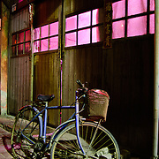Bicycle in fortune teller alley in Tainan, Taiwan