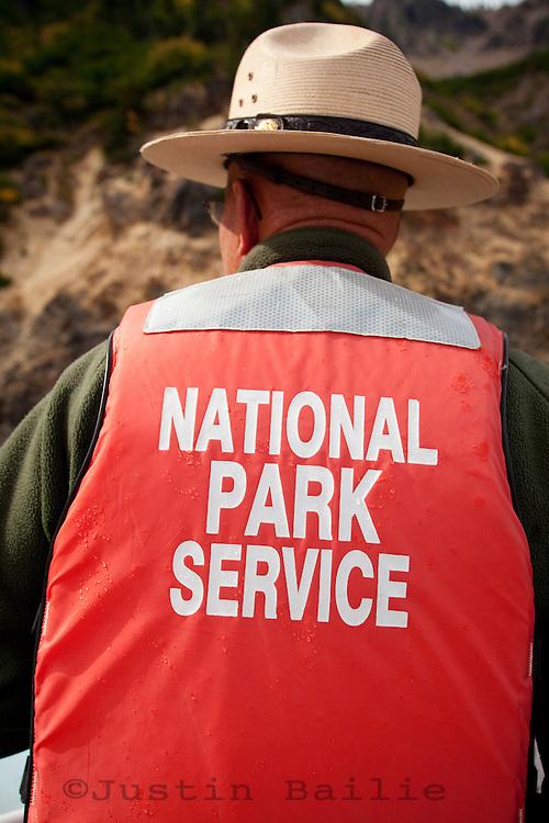 Portrait of ranger at Crater Lake National Park, OR.