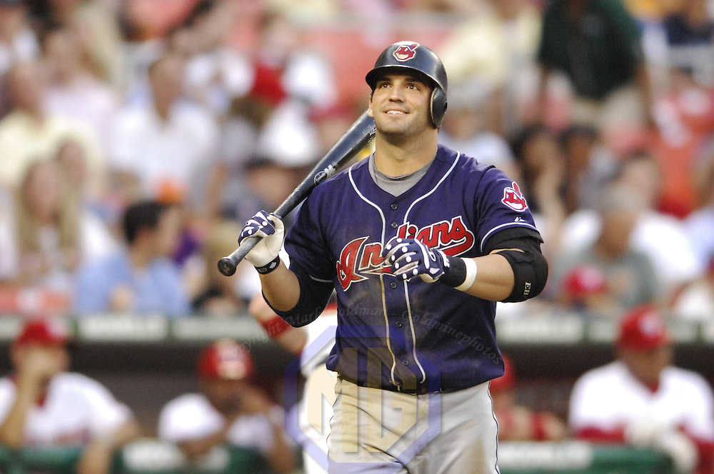 22 June 2007:  Cleveland Indians first baseman Ryan Garko (25) in action against the Washington Nationals.  The Nationals defeated the Indians 4-1 in inter-league play at RFK Stadium in Washington, D.C.  ****For Editorial Use Only****