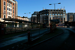 UK ENGLAND LONDON 25DEC05 - Empty bus stands at Victoria Station in central London during Christmas Day morning.. . jre/Photo by Jiri Rezac. . © Jiri Rezac 2005. . Contact: +44 (0) 7050 110 417. Mobile: +44 (0) 7801 337 683. Office: +44 (0) 20 8968 9635. . Email: jiri@jirirezac.com. Web: www.jirirezac.com. . © All images Jiri Rezac 2005 - All rights reserved.
