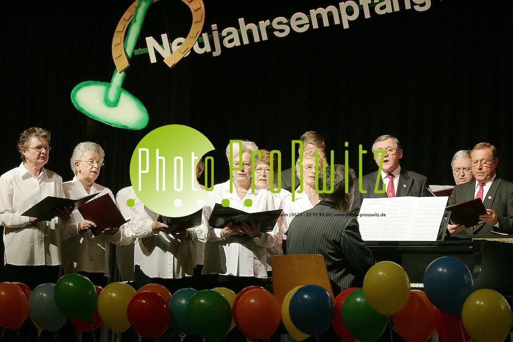 Mannheim. K&auml;fertal. Kulturhalle. Neujahrsempfang der Vereine. GV Frohsinn<br /> <br /> Bild: Markus Pro&szlig;witz<br /> ++++ Archivbilder und weitere Motive finden Sie auch in unserem OnlineArchiv. www.masterpress.org ++++