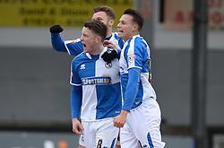 Ollie Clarke of Bristol Rovers celebrates his goal. - Mandatory byline: Alex James/JMP - 19/03/2016 - FOOTBALL - Rodney Parade - Newport, England - Newport County v Bristol Rovers - Sky Bet League Two