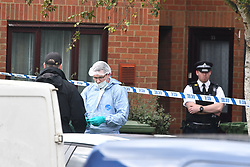 © Licensed to London News Pictures. 17/09/2017. Hounslow, UK. Police search another property in West London following a second arrest in connection with the Parsons Green terrorist attack earlier this week. Several members of the public were injured when a bomb failed to properly detonate on a tube train in central London on Friday. Photo credit: Ben Cawthra/LNP Stanwell, UK. Police search another property in Stanwell, West London following a second arrest in connection with the Parsons Green terrorist attack earlier this week. Several members of the public were injured when a bomb failed to properly detonate on a tube train in central London on Friday. Photo credit: Ben Cawthra/LNP