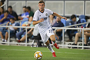 Philadelphia Union defender Kai Wagner (27) dribbles during an MLS soccer match against the San Jose Earthquakes, Wednesday, Sept. 25, 2019, in San Jose, Calif. Philadelphia defeated the  Earthquakes 2-1,  (Peter Klein/Image of Sport)