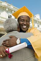 Graduate Hugging Father