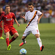 Adem Ljajic, AS Roma, in action during the Liverpool Vs AS Roma friendly pre season football match at Fenway Park, Boston. USA. 23rd July 2014. Photo Tim Clayton