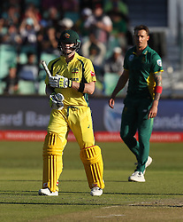 Steven Smith(c) of Australia celebrates his century during the 3rd ODI match between South Africa and Australia held at Kingsmead Stadium in Durban, Kwazulu Natal, South Africa on the 5th October  2016<br /> <br /> Photo by: Steve Haag/ RealTime Images