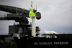 UNITED KINGDOM MEDWAY 22JUN09 - Greenpeace activists protest coal delivery to Kingsnorth power station by boarding Sir Charles Parsons coal ship.......jre/Photo by Jiri Rezac / Greenpeace....© Jiri Rezac 2009