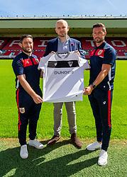 Bristol City manager Lee Johnson, Dunder Head of Acquisition Adam Webber and Jamie McAllister - Ryan Hiscott/JMP - 21/06/18 - Ashton Gate Stadium - Bristol, England - Bristol City 2018-19 Fixtures Release Day and Q&A Session