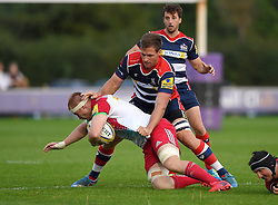 Rayn Smid of Bristol United tackles  - Mandatory by-line: Joe Meredith/JMP - 12/09/2016 - RUGBY - Clifton RFC - Bristol, England - Bristol United v Harlequins A - Aviva A League