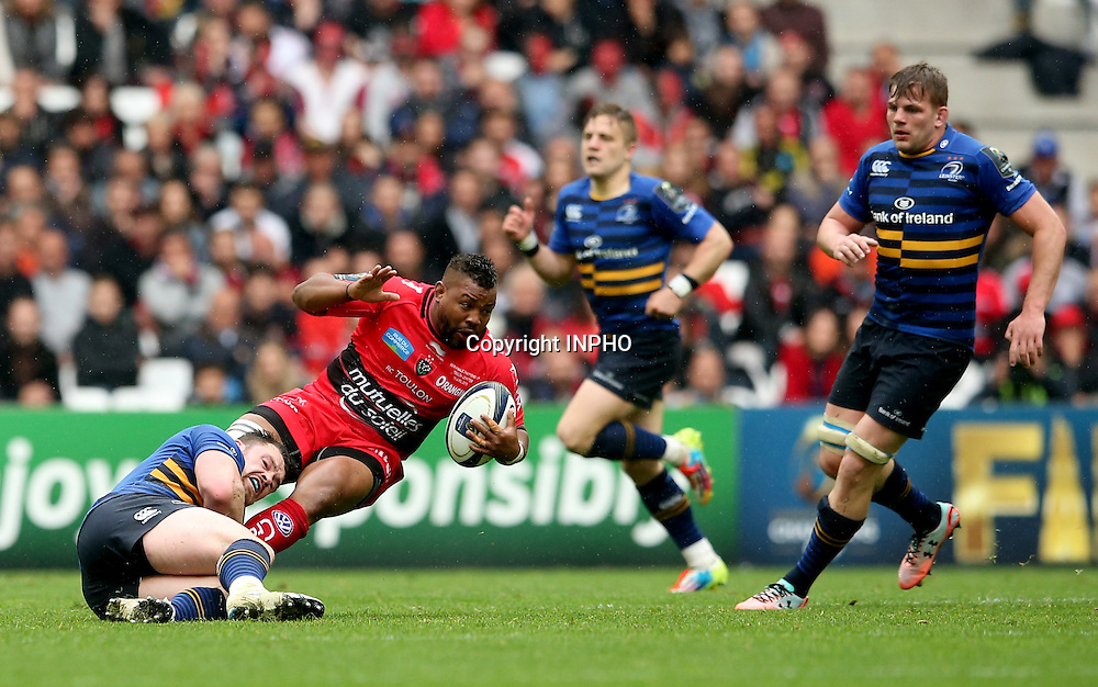 European Rugby Champions Cup Semi-Final, Stade V&eacute;lodrome, Marseille, France 19/4/2015<br /> RC Toulon vs Leinster<br /> Leinster's Cian Healy tackle Steffon Armitage of Toulon<br /> Mandatory Credit &copy;INPHO/James Crombie