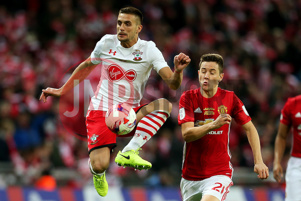 Dusan Tadic of Southampton  - Mandatory by-line: Matt McNulty/JMP - 26/02/2017 - FOOTBALL - Wembley Stadium - London, England - Manchester United v Southampton - EFL Cup Final
