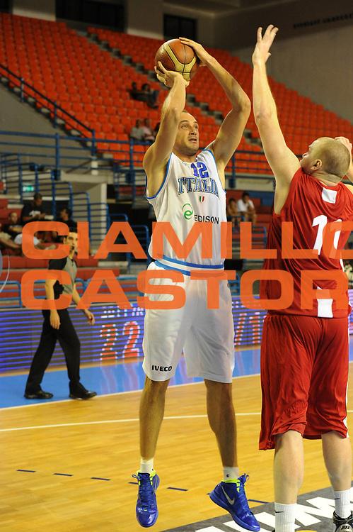 DESCRIZIONE : Cipro European Basketball Tour Italia Polonia Italy Poland<br /> GIOCATORE : Marco Cusin<br /> CATEGORIA : Tiro<br /> SQUADRA : Nazionale Italia Uomini <br /> EVENTO : European Basketball Tour <br /> GARA : Italia Polonia <br /> DATA : 07/08/2011 <br /> SPORT : Pallacanestro <br /> AUTORE : Agenzia Ciamillo-Castoria/GiulioCiamillo<br /> Galleria : Fip Nazionali 2011 <br /> Fotonotizia :  Cipro European Basketball Tour Italia Polonia Italy Poland<br /> Predefinita :