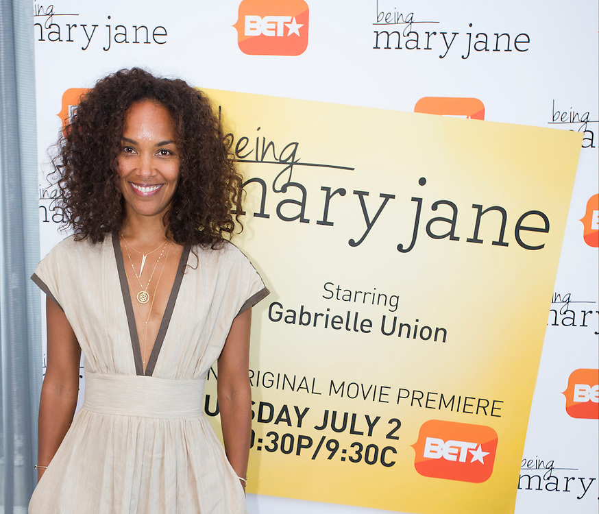 "Mara Brock Akil, creator and executive producer of  BET's ""Being Mary Jane"", poses for a portrait before a screening  at the W Hotel in Dallas, Texas on June 22, 2013."