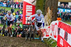 Marianne Vos (NED) & Katerina Nash (CZE), Women, Cyclo-cross World Cup Hoogerheide, The Netherlands, 25 January 2015, Photo by Thomas van Bracht / PelotonPhotos.com