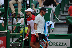 April 18, 2018 - Monaco - Tennis - Monaco - Novak Djokovic Serbie - Boran Coric Croatie (Credit Image: © Panoramic via ZUMA Press)