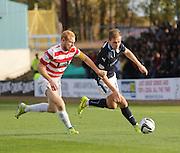 Greg Stewart goes past Hamilton's Ziggy Gordon - Dundee v Hamilton, SPFL Premiership at Dens Park<br /> <br />  - &copy; David Young - www.davidyoungphoto.co.uk - email: davidyoungphoto@gmail.com