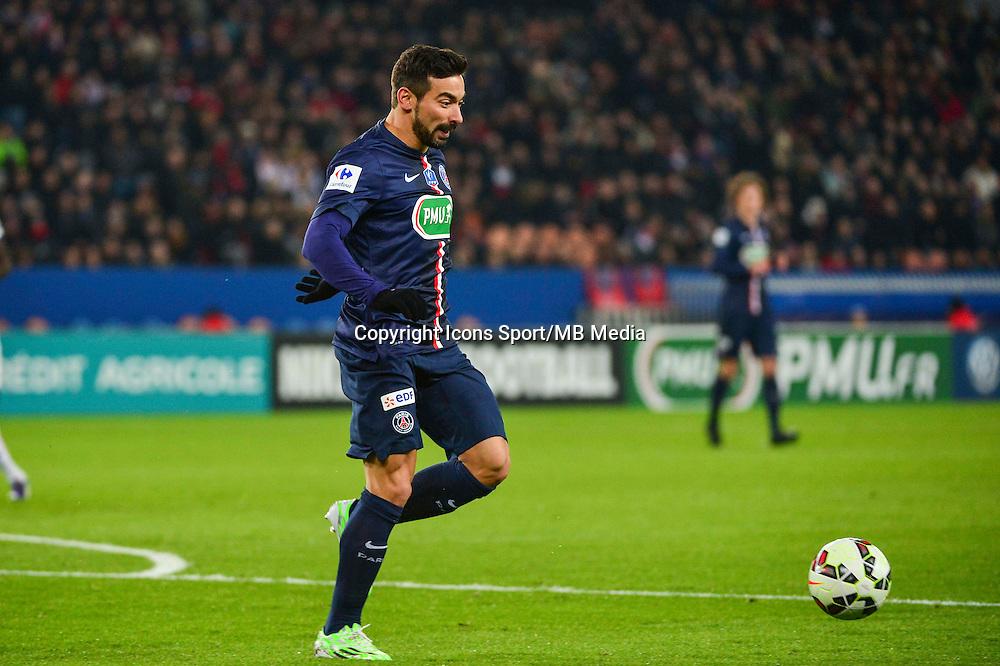 Ezequiel LAVEZZI - 21.01.2015 - Paris Saint Germain / Bordeaux - Coupe de France<br /> Photo : Dave Winter / Icon Sport