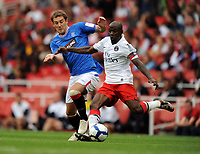 Claude Makelele<br /> Paris Saint Germain 2009/10<br /> Kevin Thomson Rangers<br /> Rangers V Paris Saint Germain 01/08/09 at the Emirates Stadium<br /> The Emirates Cup 2009<br /> Photo Robin Parker Fotosports International