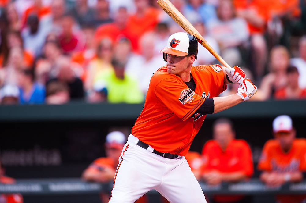 BALTIMORE, MD - MAY 26: Matt Wieters #32 of the Baltimore Orioles bats during the game against the Kansas City Royals at Oriole Park at Camden Yards on May 26, 2012 in Baltimore, Maryland. (Photo by Rob Tringali) *** Local Caption *** Matt Wieters