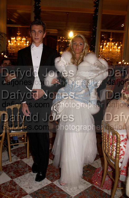 Petra Ecclestone and Nobojsa Bursac, Crillon 2004 Debutante Ball. Crillon Hotel. Paris. 26 November 2004. ONE TIME USE ONLY - DO NOT ARCHIVE  © Copyright Photograph by Dafydd Jones 66 Stockwell Park Rd. London SW9 0DA Tel 020 7733 0108 www.dafjones.com