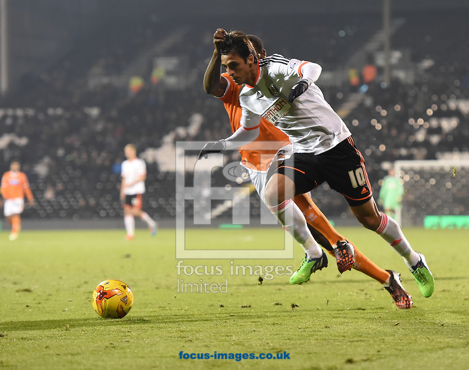 Bryan Ruiz of Fulham during the Sky Bet Championship match at Craven Cottage, London<br /> Picture by Alan Stanford/Focus Images Ltd +44 7915 056117<br /> 05/11/2014