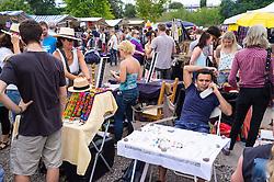 Weekend fleamarket at at Mauerpark in Prenzlauer Berg in Berlin Germany