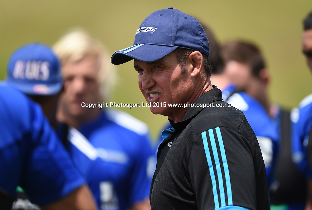 Blues Assistant coach Glenn Moore during Blues Training ahead of the 2015 Super Rugby Season. Unitec, Auckland. New Zealand. 21 January 2015. Copyright Photo: Andrew Cornaga/www.Photosport.co.nz