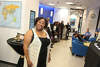 "3658 – Filmmaker, Shahari Moore introduces herself to the Hyde Park Community Thursday evening during the monthly Hyde Park Chamber of Commerce ""First Thursday"" business networking meeting held at Citibank located at 58th and Ellis.<br /> <br /> All rights to this photo are owned by Spencer Bibbs of Spencer Bibbs Photography and may only be used in any way shape or form, whole or in part with written permission by the owner of the photo, Spencer Bibbs.<br /> <br /> For all of your photography needs, please contact Spencer Bibbs at 773-895-4744. I can also be reached in the following ways:<br /> <br /> Website – www.spbdigitalconcepts.photoshelter.com<br /> <br /> Text - Text ""Spencer Bibbs"" to 72727<br /> <br /> Email – spencerbibbsphotography@yahoo.com"