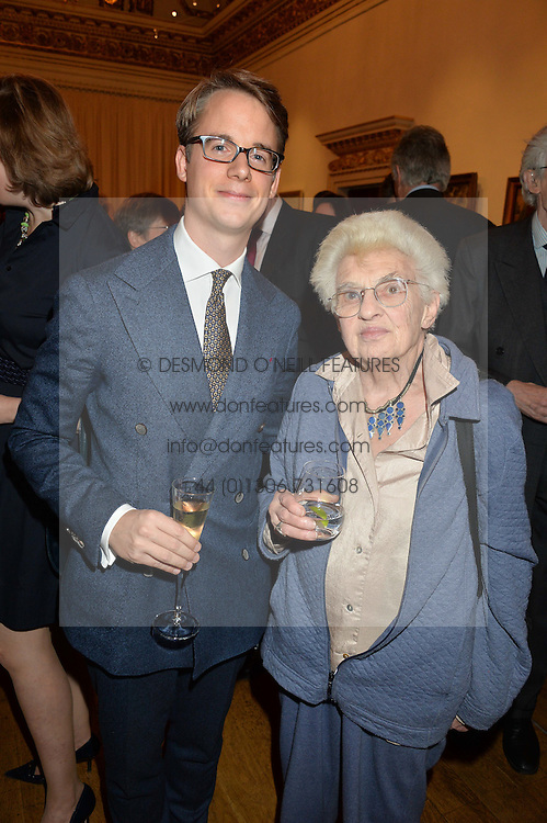 LONDON, ENGLAND 28 NOVEMBER 2016: Wolf Burchard and Jennifer Montagu at a reception to celebrate the publication of The Sovereign Artist by Christopher Le Brun and Wolf Burchard held at the Royal Academy of Art, Piccadilly, London, England. 28 November 2016.