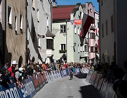 26.09.2018, Innsbruck, AUT, UCI Straßenrad WM 2018, Einzelzeitfahren, Elite, Herren, von Rattenberg nach Innsbruck (54,2 km), im Bild Übersicht Stadtdurchfahrt Rattenberg // overview town Rattenberg during the men's individual time trial from Rattenberg to Innsbruck (54,2 km) of the UCI Road World Championships 2018. Innsbruck, Austria on 2018/09/26. EXPA Pictures © 2018, PhotoCredit: EXPA/ Reinhard Eisenbauer